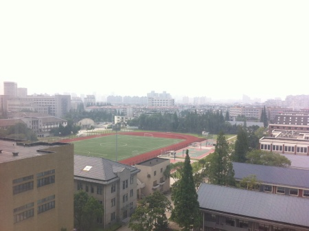 view of campus from apt
