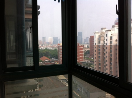 window view of shanghai