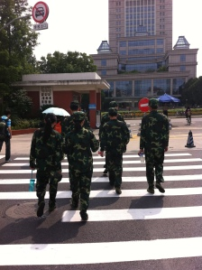 Fudan Students in Compulsory Military Training