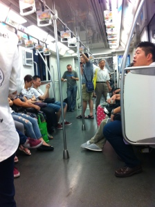 Riders on Shanghai's Line 10 Metro Train (which I took often)