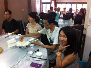 My TA Chouyen Chen, Celia, enjoying lunch