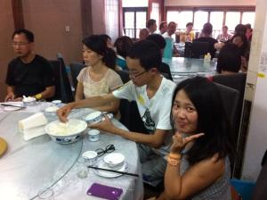 My TA Chouyen Chen, Celia, enjoying lunch